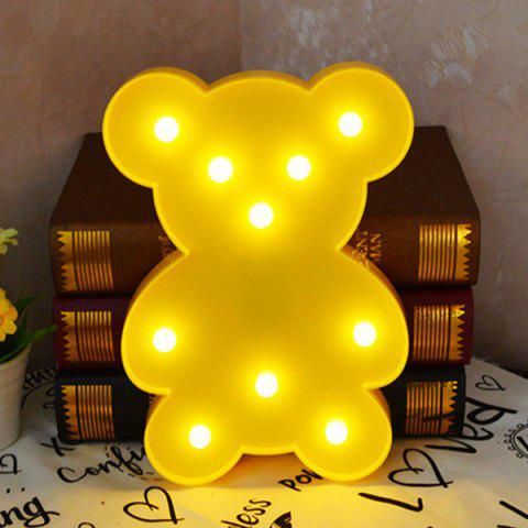 Trendy Little Bear Shape Decoration Night Light