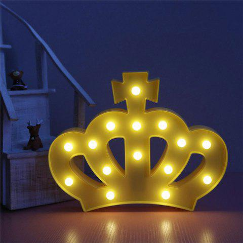 Discount Crown Shape Decoration Atmosphere Lamp - YELLOW  Mobile