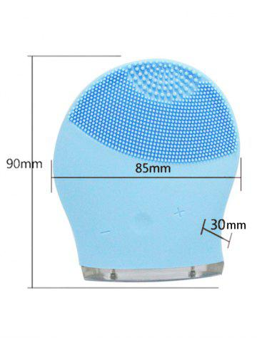 Fancy Silicone Recharge Massage Face Cleanser Brush Device - AZURE  Mobile