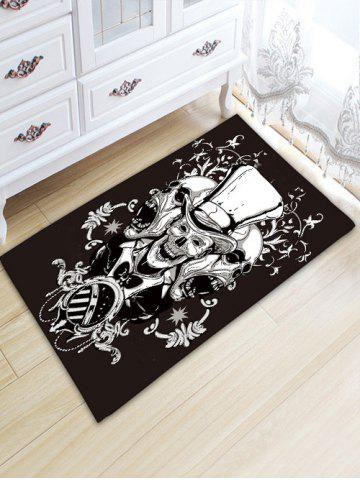 Crane Graphic Antislip Flannel Area Rug