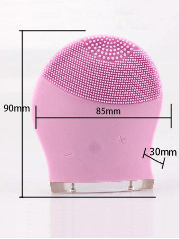 Fancy Silicone Recharge Massage Face Cleanser Brush Device - PINK  Mobile