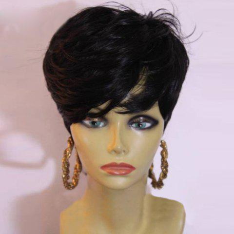 New Short Layered Side Bang Slightly Curly Synthetic Wig