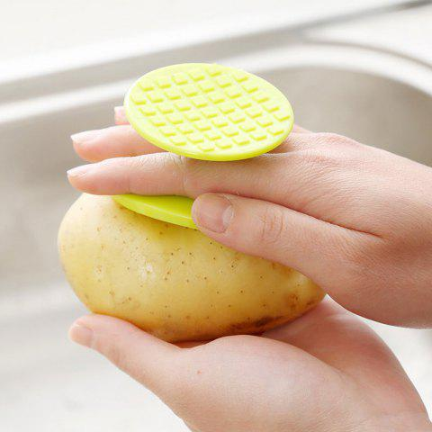 Easy Cleaning Tool Multifunction Vegetable Brush Potato Scrubber - Green - Eu Plug