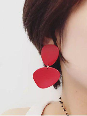 Statement Resin Drop Earrings - Red