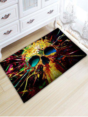 Trendy Colorful Skull Flannel Skidproof Area Rug