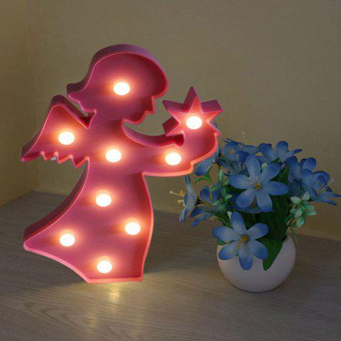 New Angel Shape Decoration Night Light LIGHT PINK