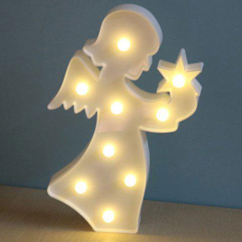 Cheap Angel Shape Decoration Night Light - WHITE  Mobile