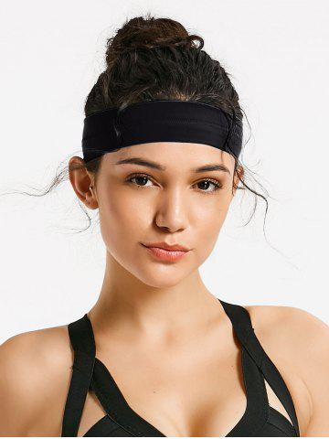 Cheap Silicone Skidproof Elastic Sports Headband - ONE SIZE BLACK Mobile