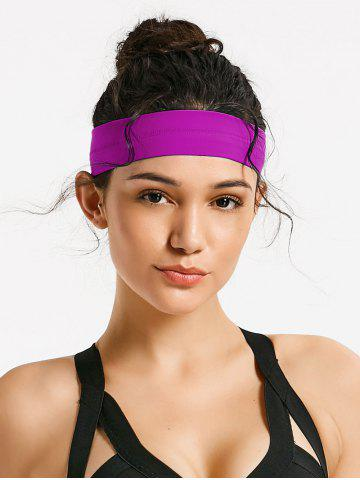 Fancy Silicone Skidproof Elastic Sports Headband - ONE SIZE PURPLE Mobile