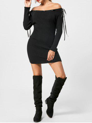 Off The Shoulder - Robe pull à manches longues