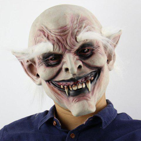 Buy White Brow Monster Printed Halloween Mask With Wig