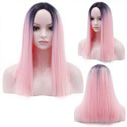 Long Middle Part Straight Bob Ombre Synthetic Wig