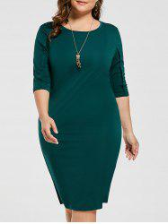 Knee Length Plus Size Sheath Dress