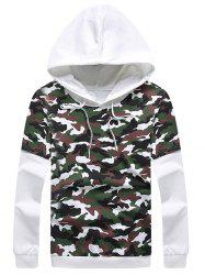 Pullover Faux Twinset Camouflage Hoodie