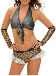 Scale Mermaid Cosplay Costume - GOLDEN L