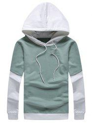 Two Tone Pullover Faux Twinset Hoodie