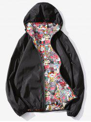 Devils Print Reversible Style Zip Up Jacket