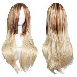 Long Inclined Bang Layered Straight Colormix Synthetic Wig