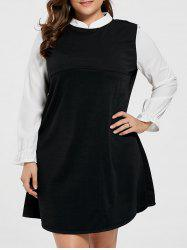Plus Size Knee Length Ruffle Dress