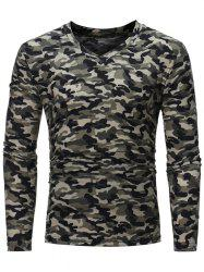 Camouflage Pattern Long Sleeve T-shirt