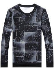 Crew Neck Geometric Sweatshirt