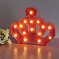 Forme de la Couronne Atmosphere Atmosphere Lamp - Rouge