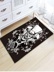 Crane Graphic Antislip Flannel Area Rug -