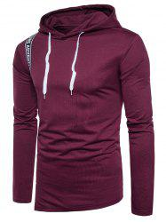 Graphic Selvedge Embellished Pullover Hoodie