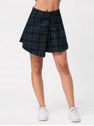 High Waist Tartan Plaid Mini Skirt