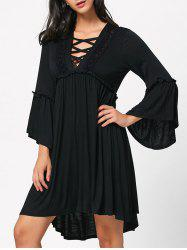 Criss Cross Front Empire Waist Casual Dress