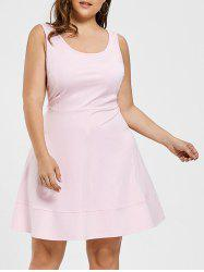 Scoop Neck High Waist Plus Size Dress