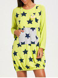 Stars Print Maternity Night Dress