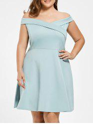 Plus Size Off Shoulder Mini Evening Dress