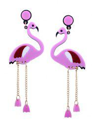 Wing Bird Chain Drop Earrings