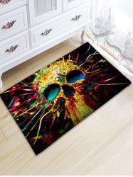 Colorful Skull Flannel Skidproof Area Rug -