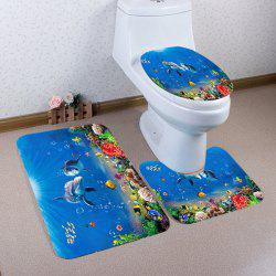 Ocean Dolphin Pattern Ensemble de toilette 3 pcs -