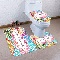 Colorful Graphic Pattern 3Pcs Bath Toilet Mats Set - COLORFUL