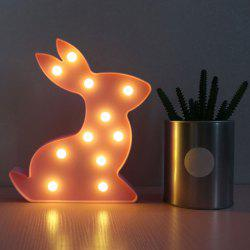 Exquisite Rabbit Shape Decoration Night Light