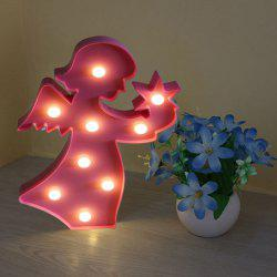 Angel Shape Decoration Night Light - LIGHT PINK