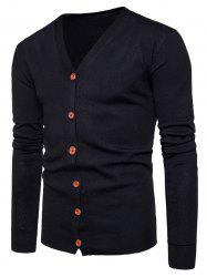 Knitting V Neck Button Up Cardigan -