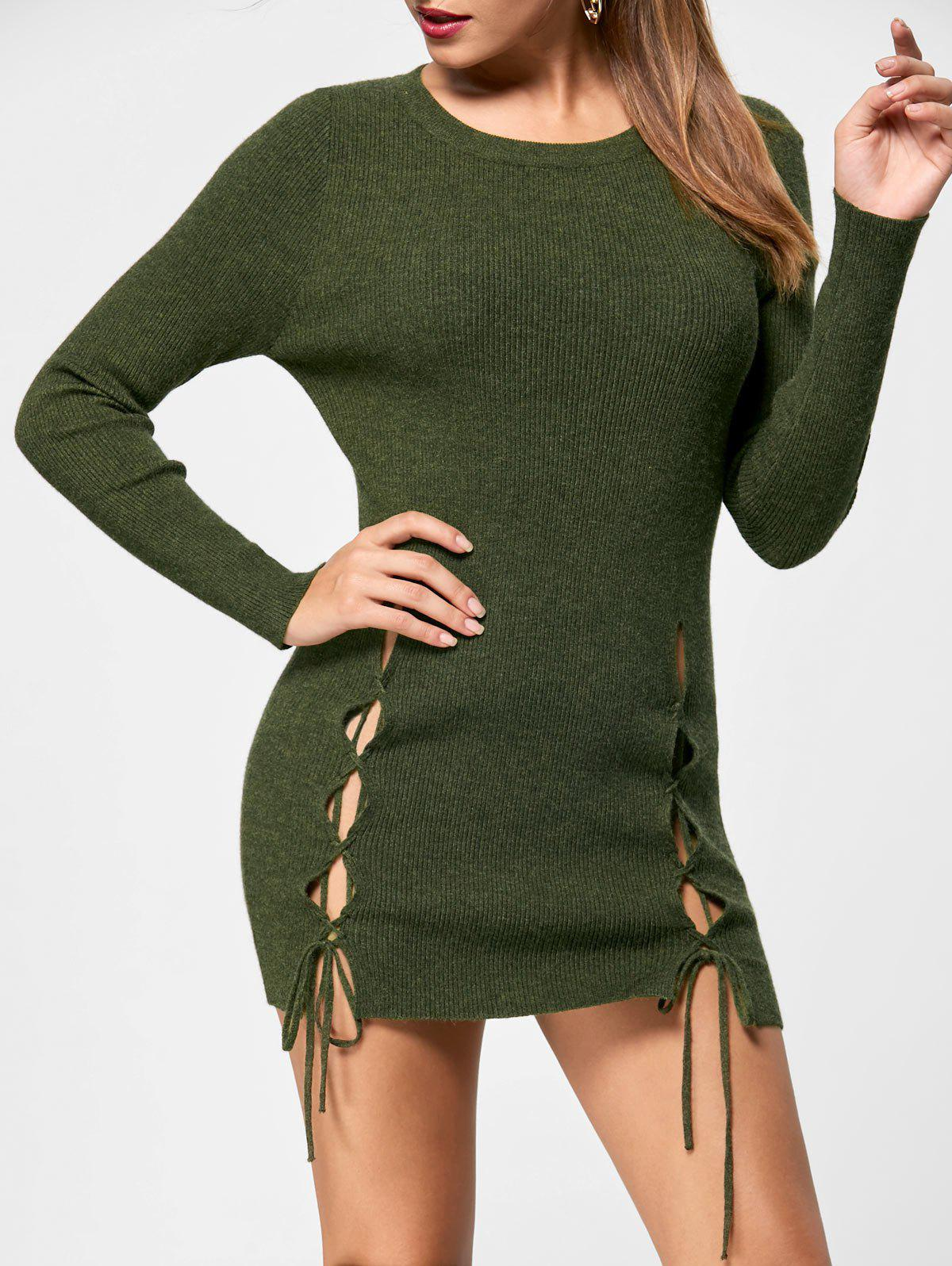 Hot Short Lace Up Jumper Dress