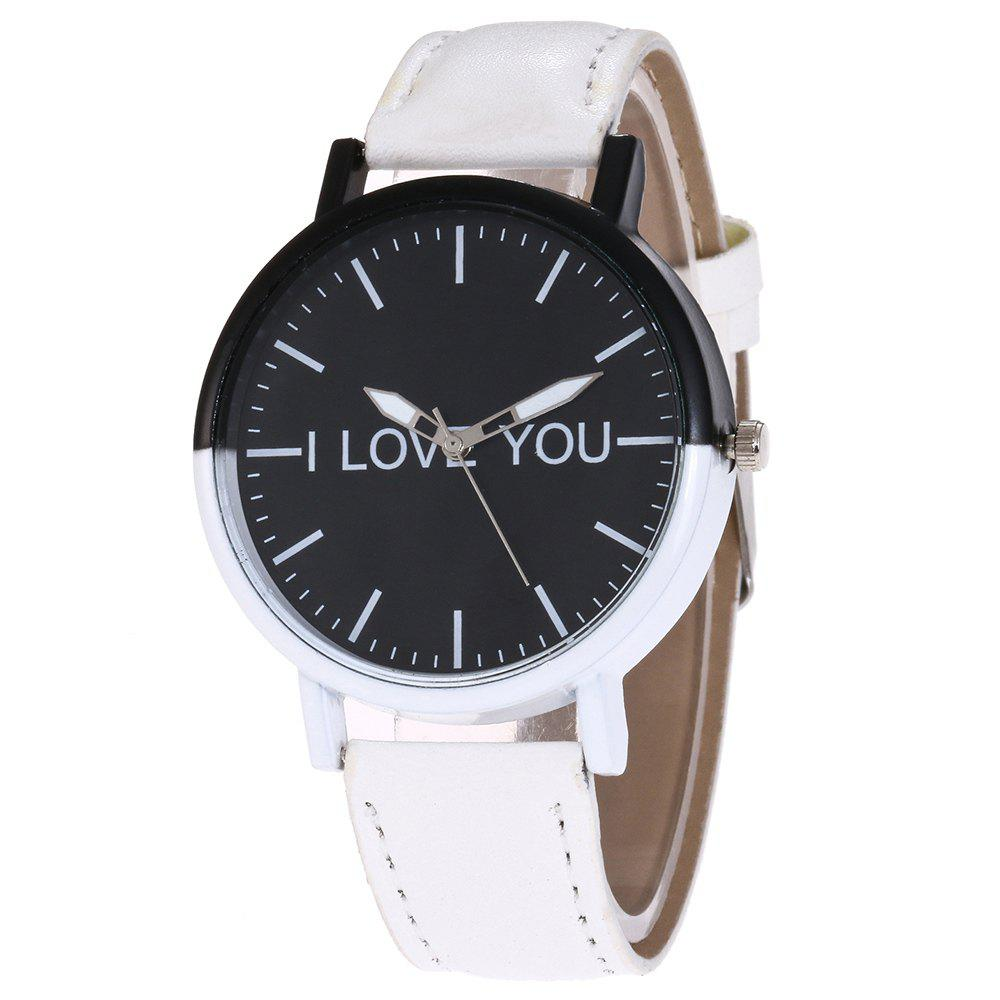 Buy I Love You Faux Leather Strap Watch