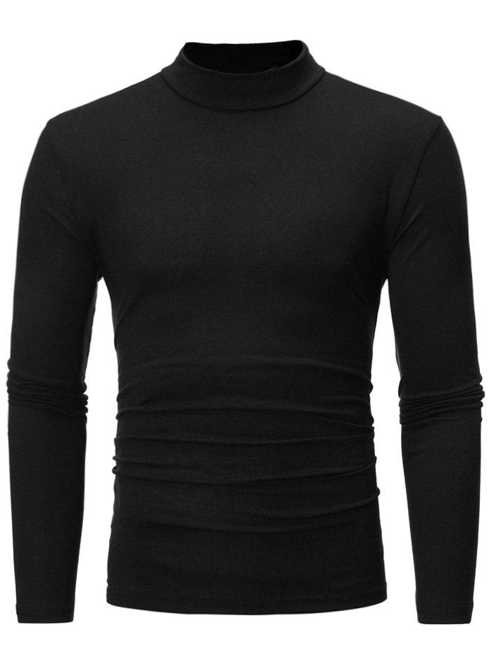 Turtle Neck Long Sleeve T shirt 223871312