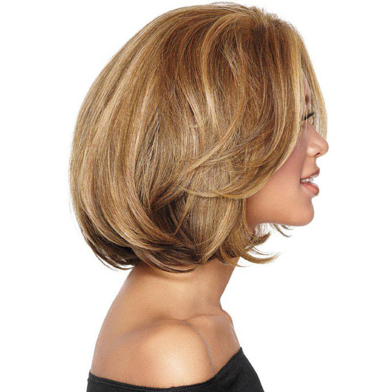 Short Fluffy Colormix Straight Bob Synthetic WigHAIR<br><br>Color: COLORMIX; Type: Full Wigs; Cap Construction: Capless; Style: Straight; Material: Synthetic Hair; Bang Type: Side; Length: Short; Length Size(CM): 38; Weight: 0.2100kg; Package Contents: 1 x Wig;