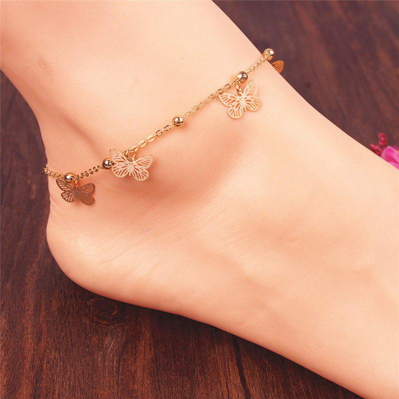 Best Alloy Butterfly Beads Charm Anklet