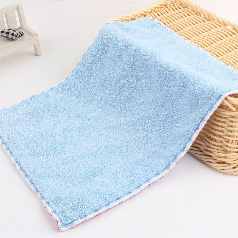 Thickening Coral Fleece Mini Wiping ClothHOME<br><br>Color: WINDSOR BLUE; Type: Cleaning Cloths; Material: Fabric; Size(CM): 21*28; Weight: 0.0562kg; Package Contents: 1 x Cleaning Cloth;