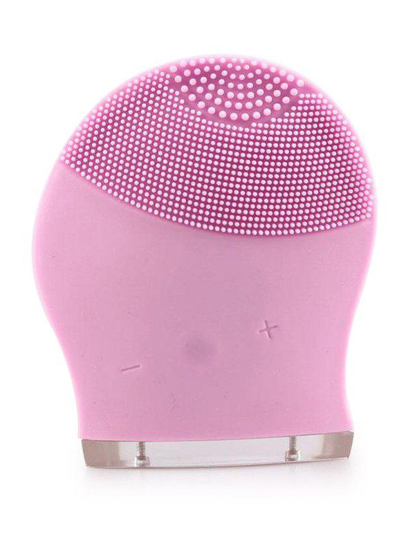 Silicone Recharge Massage Face Cleanser Brush DeviceBEAUTY<br><br>Color: PINK; Category: Cleansing Apparatus; Brush Hair Material: Others; Features: Limits Bacteria; Season: Fall,Spring,Summer,Winter; Weight: 0.2000kg; Package Contents: 1 x Cleansing Device 1 x USB Line;