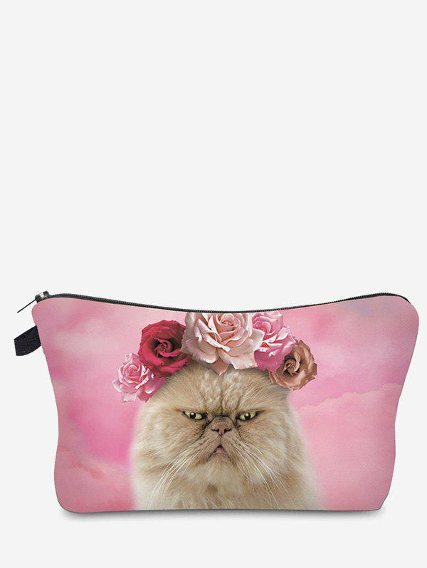 Discount 3D Cat Printed Clutch Makeup Bag