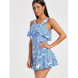 Skirted Striped Flounce Swimsuit -