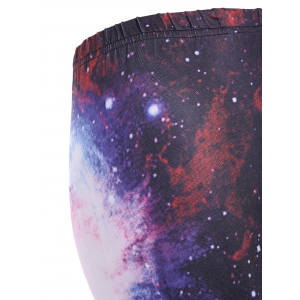 Galaxy Print Workout Leggings - COLORMIX ONE SIZE